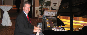 NJ Piano Player Arnie on the Piano at a Cocktail Hour at The Palace in Somerset, NJ