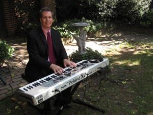 Arnie performing at an outdoor wedding in north Jersey