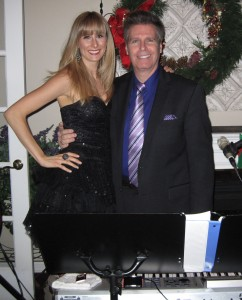 Pianist Arnie and Remarkable Singer Kristin Mularz performing at a cocktail party
