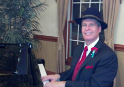 Arnie making the music at a New Jersey Senior Event