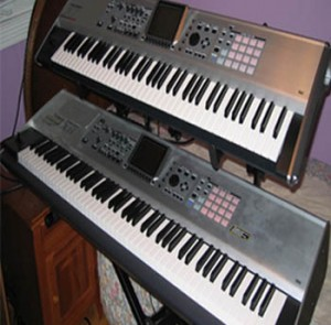 Arnie's Roland Fantom X8 & X7 Keyboard/Synthesizer Set-up