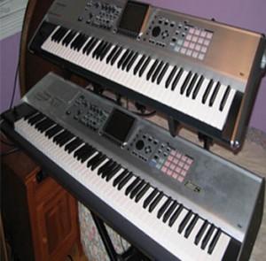 Arnie's Roland Fantom X8 & X7 Keyboard/Synthesizer Set-up