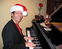 Holiday and Christmas party musician Arnie Abrams performs at a recent event. Enjoy beautiful live music for your next holiday party in New Jersey, New York City or Philadelphia.