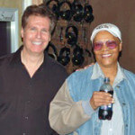 Dionne-Warwick-and-Arnie-Abrams-at-a-Recent-Recording